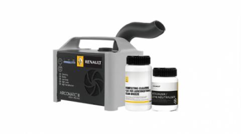 「Renault AIRCOMTIC Ⅲ」で車内を洗浄、除菌。キャンペーン価格¥7,700!